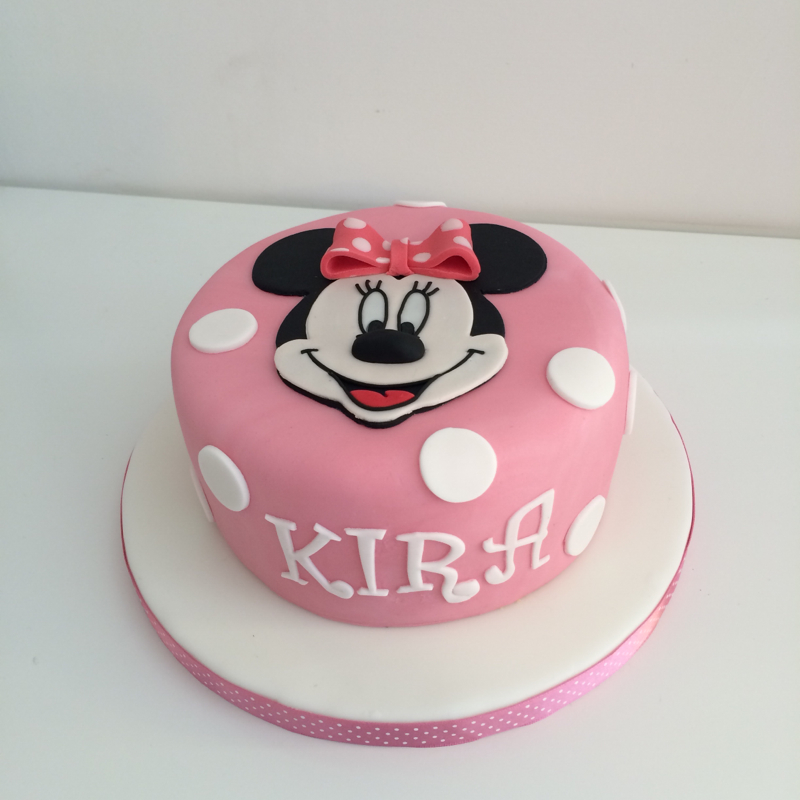 Cake Number 5 Minnie Mouse